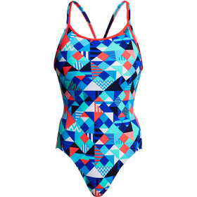 Funkita Diamond Back One Piece Badpak Dames, check republic
